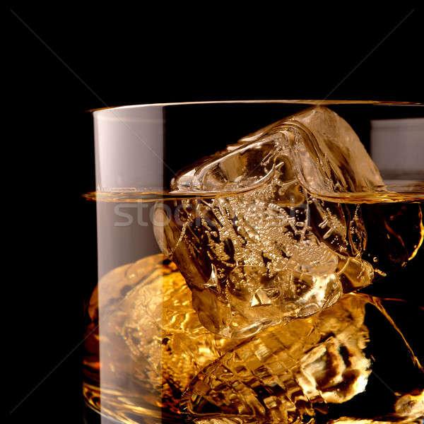ウイスキー 岩 ショット ガラス アイスキューブ ストックフォト © andreasberheide
