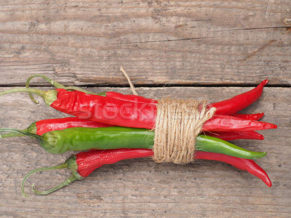 Bunch of spicy chilies Stock photo © andreasberheide