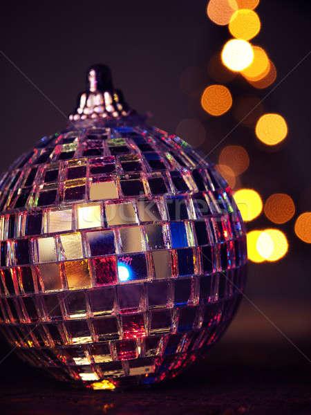 Disco christmas cacko zamazany światła Zdjęcia stock © andreasberheide