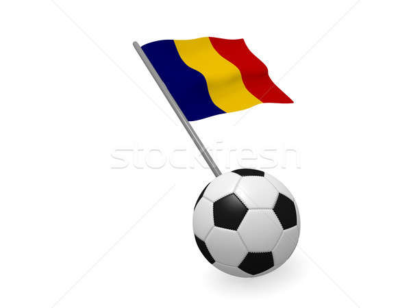 Soccer ball with the flag of Romania Stock photo © andreasberheide
