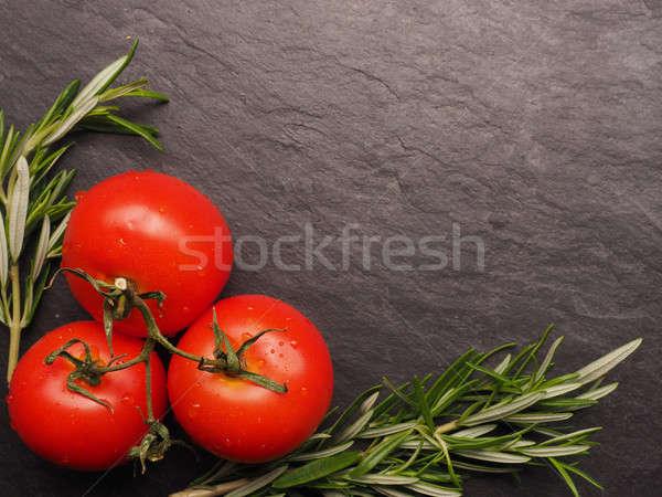 Fraîches tomates romarin rouge sombre nature Photo stock © andreasberheide