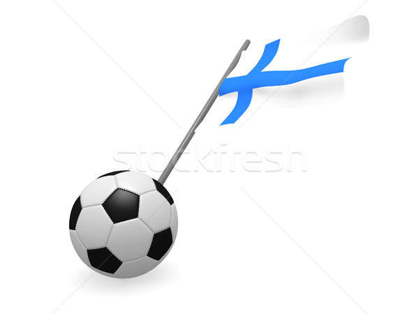 サッカーボール フラグ フィンランド サッカー 選手権 3D ストックフォト © andreasberheide