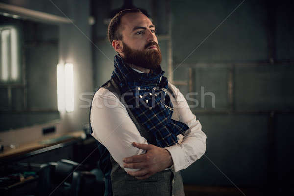 красивый бородатый человека борода Сток-фото © andreonegin