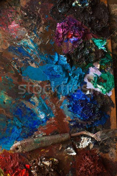 Arte paleta lápiz resumen pintura educación Foto stock © andreonegin