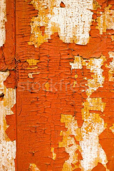 Kırık duvar eski boya terkedilmiş Stok fotoğraf © andreonegin