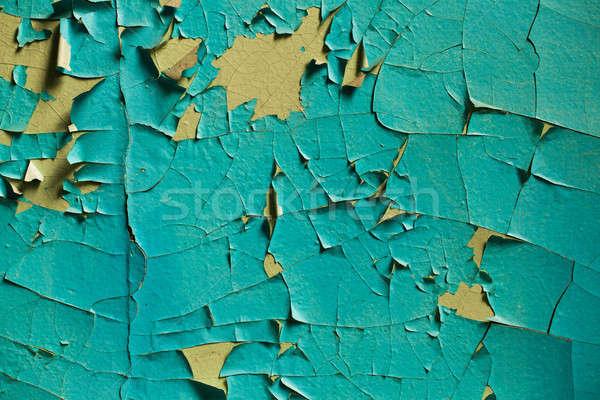 Stock fotó: Repedt · fal · öreg · rétegek · festék · elhagyatott