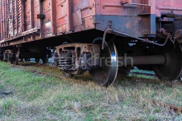 Rail freight car close-up Stock photo © andreonegin