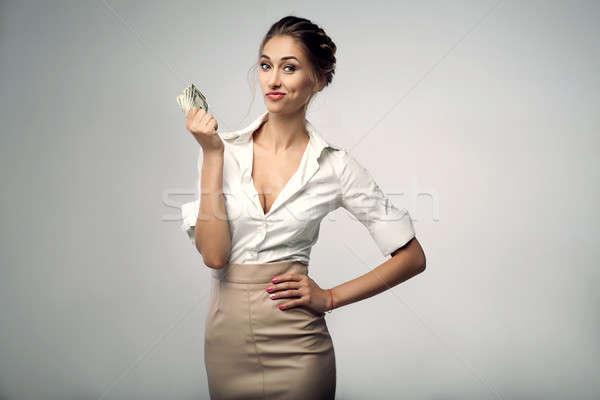 красивой элегантный молодые женщину Постоянный студию Сток-фото © andreonegin