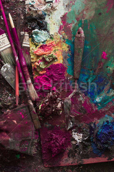 искусства палитра карандашом аннотация дизайна краской Сток-фото © andreonegin