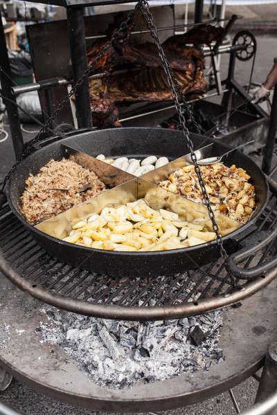 Pörkölt krumpli főtt kint nagy fém Stock fotó © andreonegin