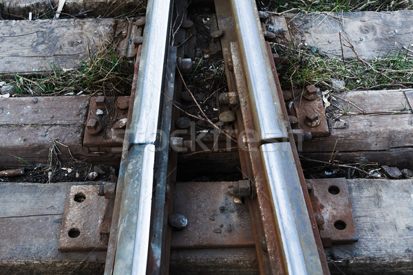 Close up of a Railroad Track Junction Stock photo © andreonegin