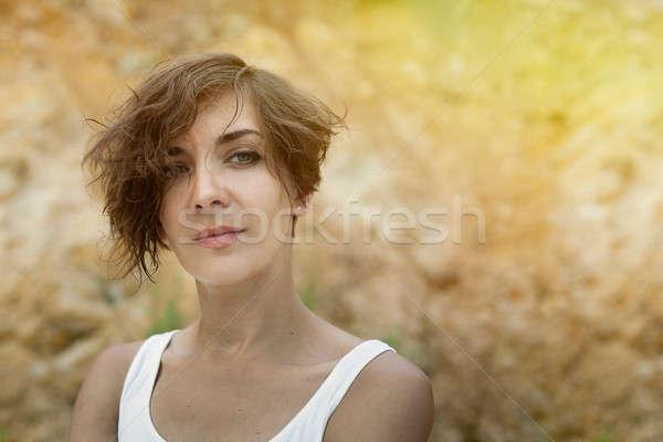 Aire libre retrato suave soleado colores Foto stock © andreonegin