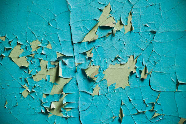 ひびの入った 壁 古い 層 塗料 捨てられた ストックフォト © andreonegin