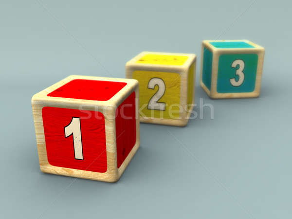 Number sequence Stock photo © Andreus