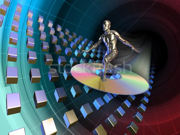 Surf androide disco compacto ilustración digital red web Foto stock © Andreus