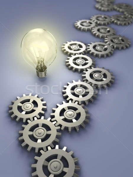 инновация Цифровая иллюстрация команда мышления электроэнергии Сток-фото © Andreus