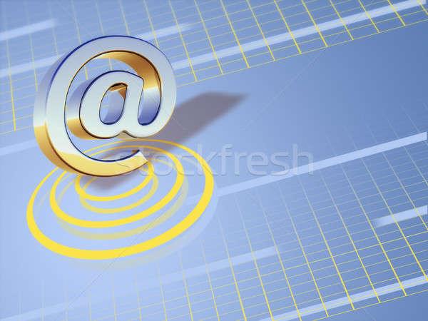 электронная почта символ киберпространство Цифровая иллюстрация фон обои Сток-фото © Andreus