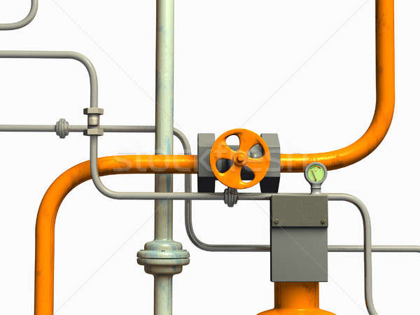 Pipes system Stock photo © Andreus