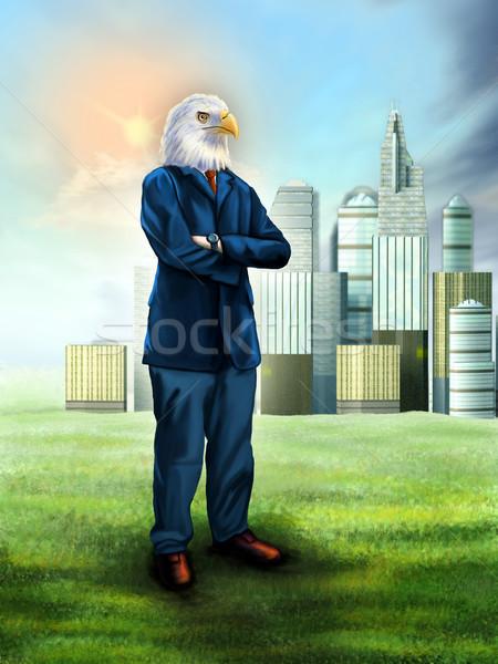 Eagle businessman Stock photo © Andreus