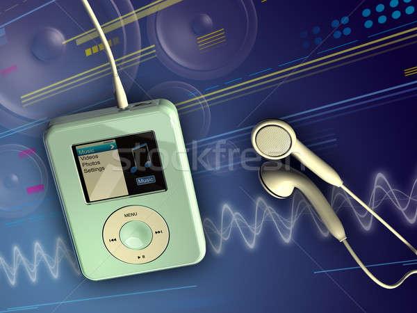 Digital music Stock photo © Andreus