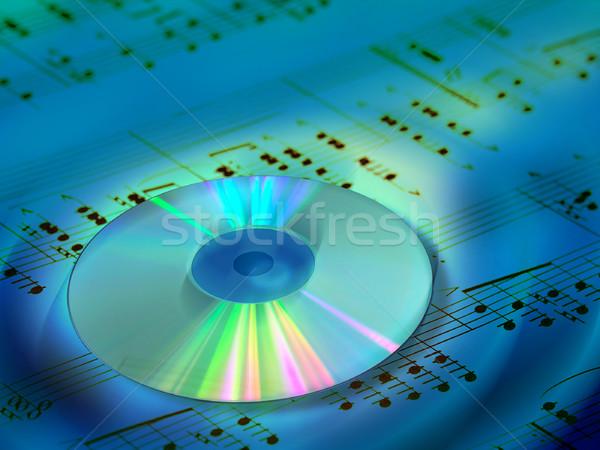 музыку компакт-диск лист Цифровая иллюстрация бизнеса технологий Сток-фото © Andreus