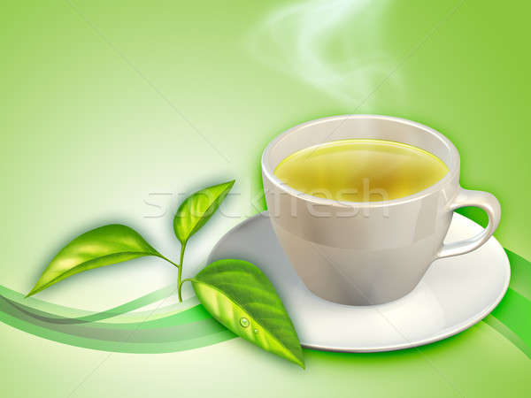 Green tea Stock photo © Andreus