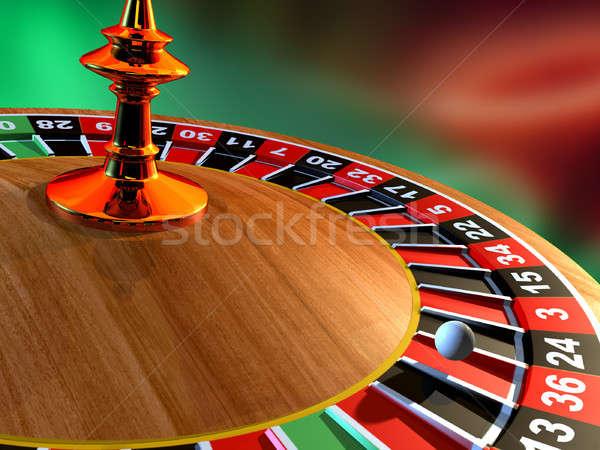 Roulette ruota della roulette illustrazione digitale sfondo metal Foto d'archivio © Andreus