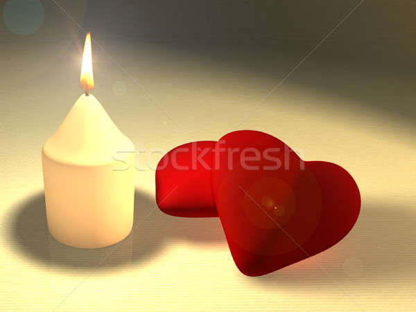 Candlelight love Stock photo © Andreus