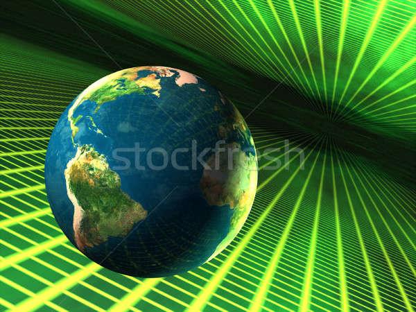 Tierra ciberespacio planeta tierra negocios mundo Foto stock © Andreus