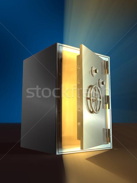 Nyitás széf meleg fény bent nyitva Stock fotó © Andreus
