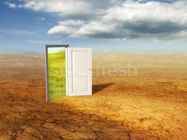ドア オープンドア 異なる 次元 デジタルイラストレーション ストックフォト © Andreus