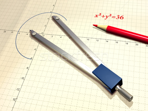 Compass and pencil Stock photo © Andreus