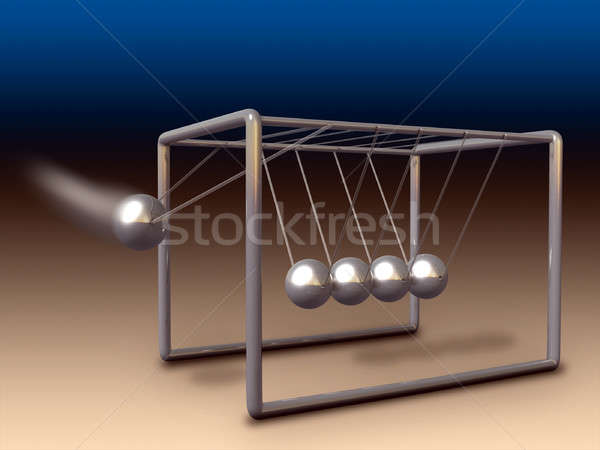 Newton cradle Stock photo © Andreus