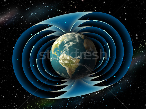 Earth magnetic field Stock photo © Andreus