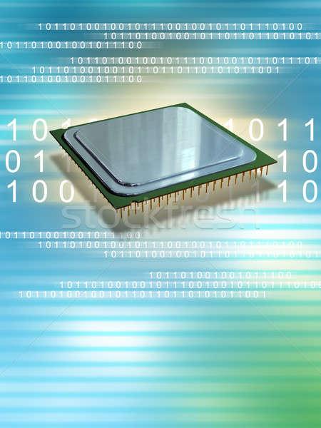 CPU velocidad ordenador procesador binario datos Foto stock © Andreus