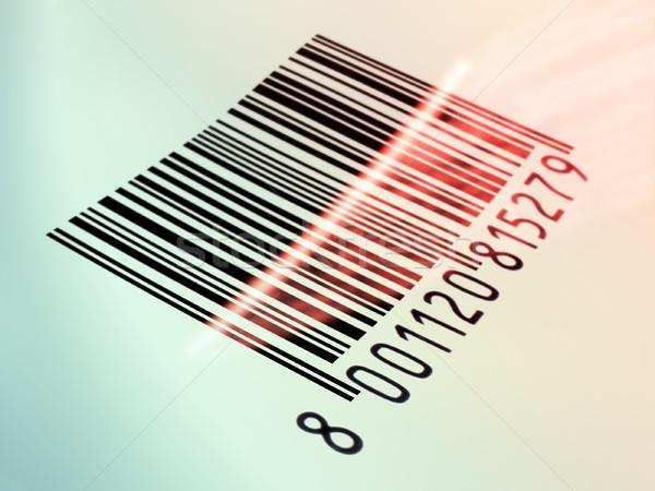Código de barras lectura láser impreso ilustración digital Foto stock © Andreus
