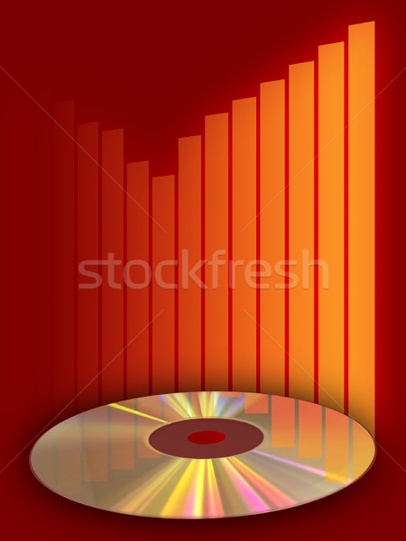 Music compact disc Stock photo © Andreus