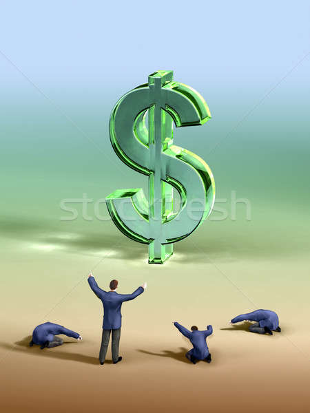 Dollar worship Stock photo © Andreus