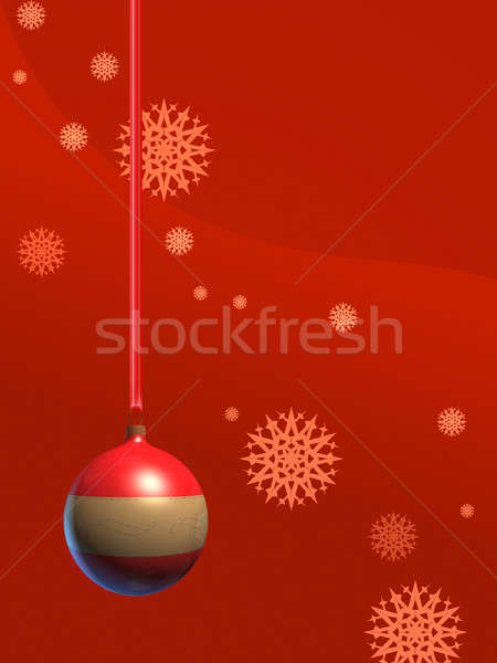 Christmas decoratie bal Rood gekleurd digitale illustratie Stockfoto © Andreus