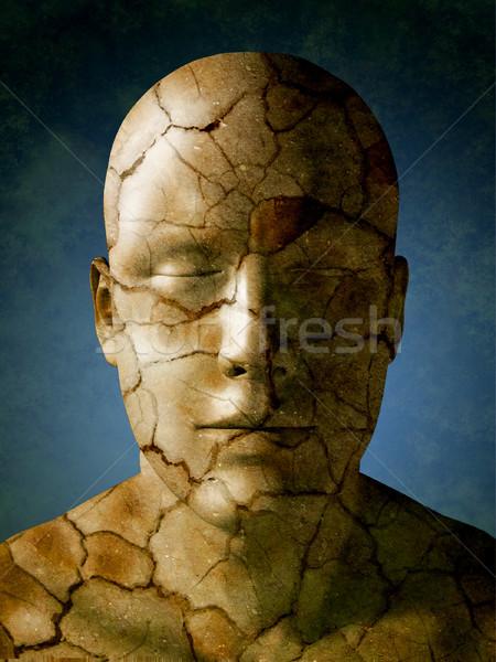 треснувший голову высушите земле кожи Цифровая иллюстрация Сток-фото © Andreus