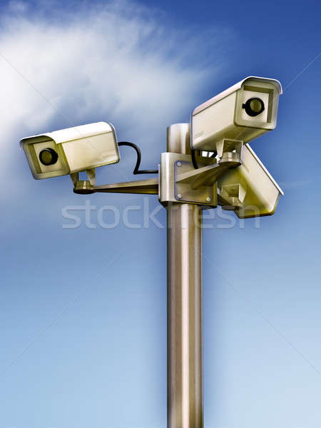 Surveillance cameras Stock photo © Andreus