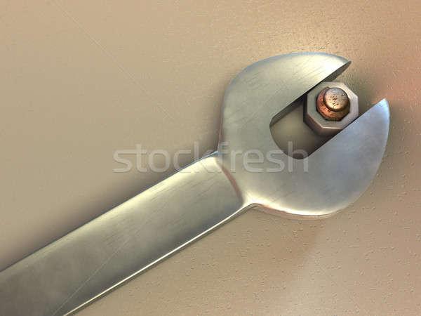 ключа cg иллюстрация работу инструменты Сток-фото © Andreus