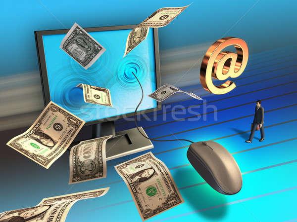 Online działalności Internetu era myszą Zdjęcia stock © Andreus