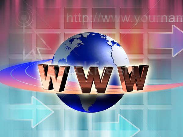Internet mondo world wide web simbolo in giro terra Foto d'archivio © Andreus