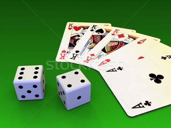 Kártya játék kártyák asztal digitális illusztráció háttér Stock fotó © Andreus