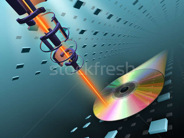 Compact disc burning Stock photo © Andreus