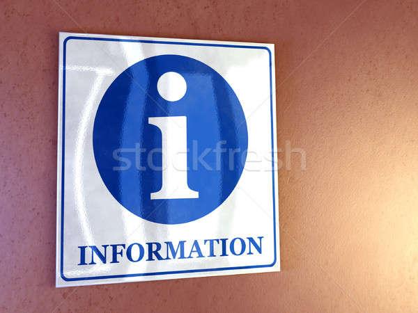 Információ jel fal digitális illusztráció iroda kommunikáció adat Stock fotó © Andreus