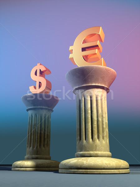 ユーロ ドル シンボル 2 列 デジタルイラストレーション ストックフォト © Andreus