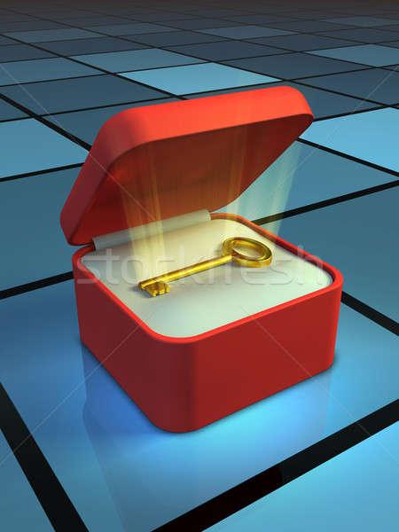 доступ ключевые шкатулке Цифровая иллюстрация Сток-фото © Andreus