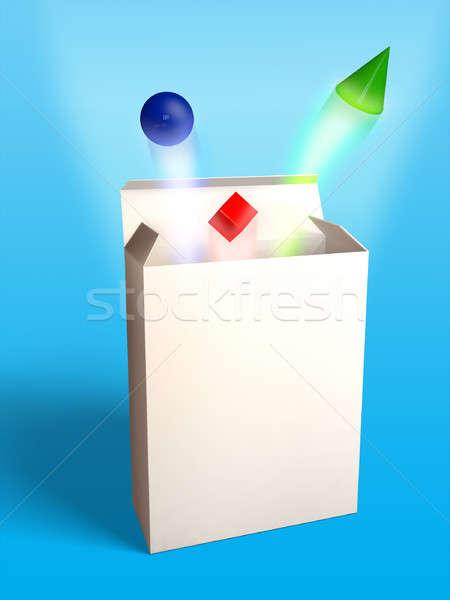 Nuovo prodotto pacchetto geometrica forme Foto d'archivio © Andreus